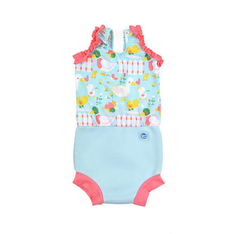 Splash About Happy Nappy Costume - 5 Little Ducks-Swimwear- Natural Baby Shower