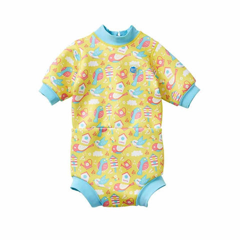 Splash About Happy Nappy Wetsuit - Garden Birds-Swim Nappies- Natural Baby Shower