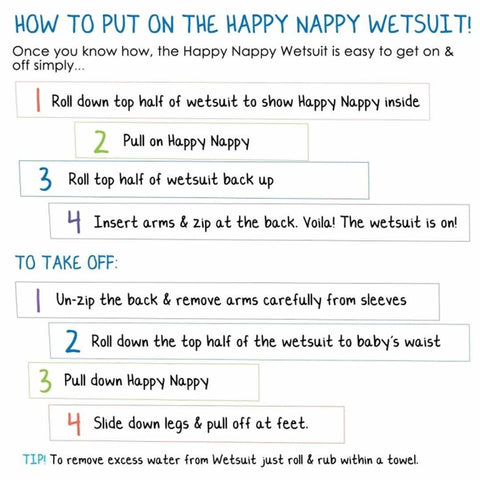 Splash About Happy Nappy Wetsuit - Shark Orange-Swim Nappies- Natural Baby Shower
