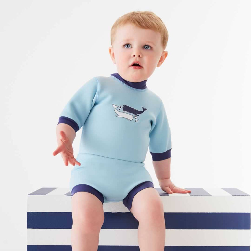 Splash About Happy Nappy Wetsuit - Vintage Moby - Swimwear - Natural Baby Shower