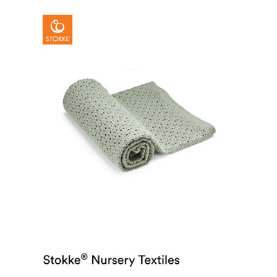 Stokke Merino Wool Blanket - Green-Blankets- Natural Baby Shower