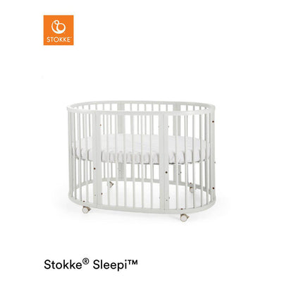 Stokke Sleepi Bed - White-Cot Beds- Natural Baby Shower