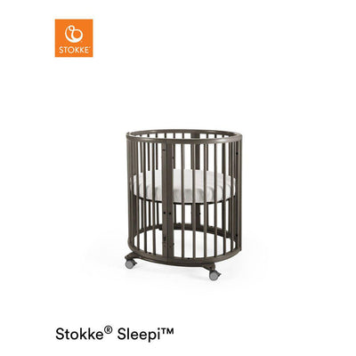 Stokke Sleepi Mini Crib - Hazy Grey-Cribs- Natural Baby Shower