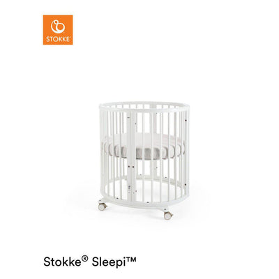 Stokke Sleepi Mini Crib - White-Cribs- Natural Baby Shower