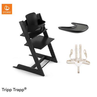 Stokke Tripp Trapp Bundle - Black-Highchairs- Natural Baby Shower
