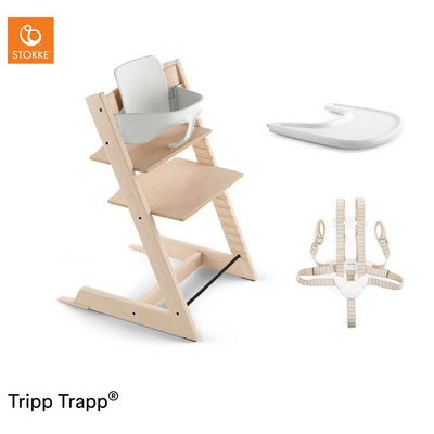 Stokke Tripp Trapp Bundle - Natural-Highchairs- Natural Baby Shower