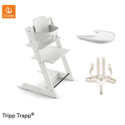Stokke Tripp Trapp Bundle - White-Highchairs- Natural Baby Shower