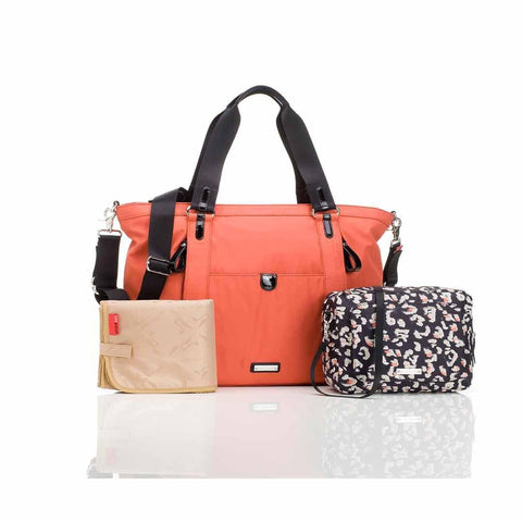 Storksak Changing Bag - Cleo - Orange-Changing Bags- Natural Baby Shower