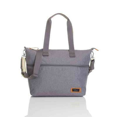 Storksak Changing Bag - Expandable Tote - Grey-Changing Bags- Natural Baby Shower