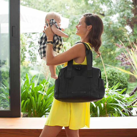 Storksak Changing Bag - Kym - Black-Changing Bags- Natural Baby Shower