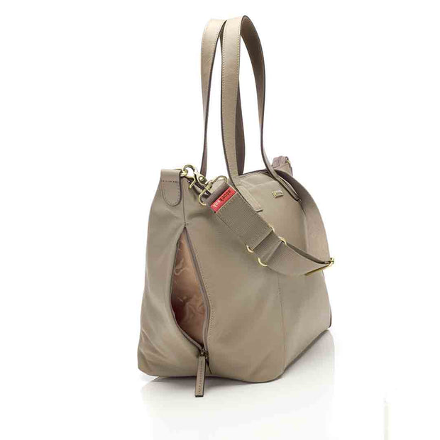Storksak Changing Bag - Noa Leather - Clay-Changing Bags- Natural Baby Shower