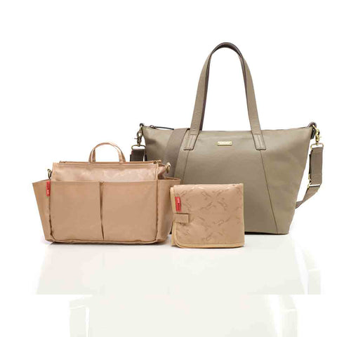 Storksak Changing Bag - Noa Leather - Clay 1