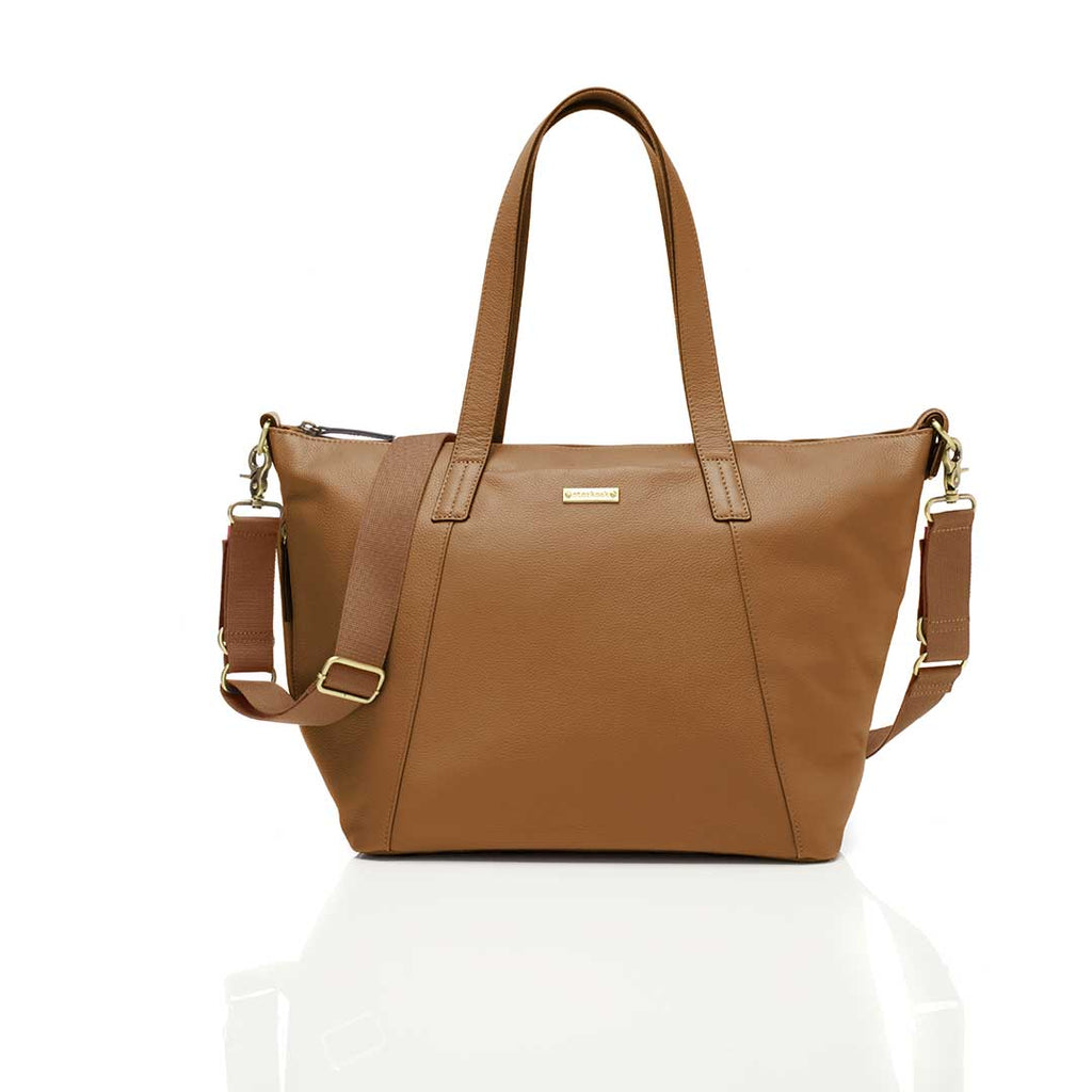 Storksak Changing Bag - Noa Leather - Tan-Changing Bags- Natural Baby Shower