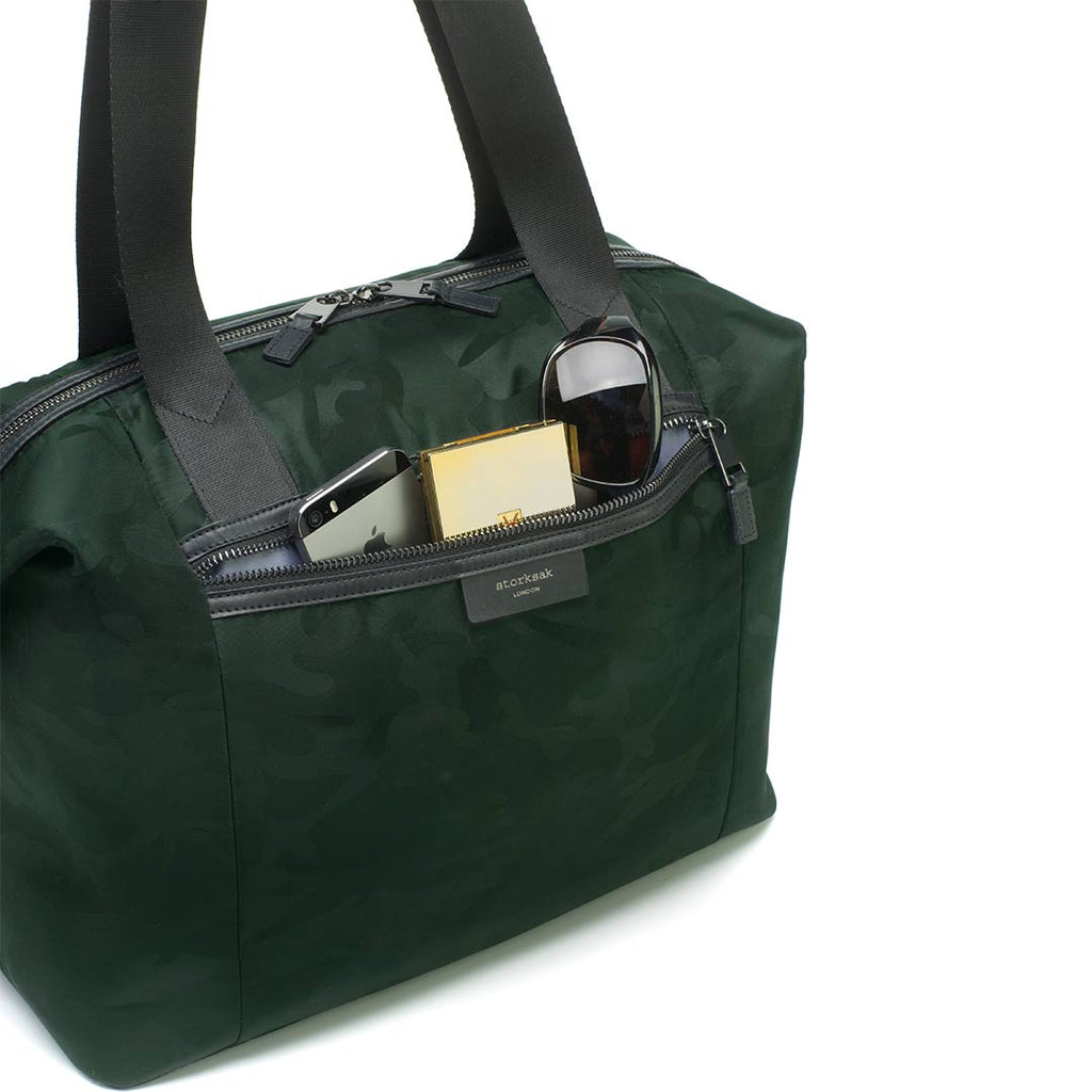 Storksak Changing Bag - Stevie Luxe - Camo Emerald-Changing Bags- Natural Baby Shower