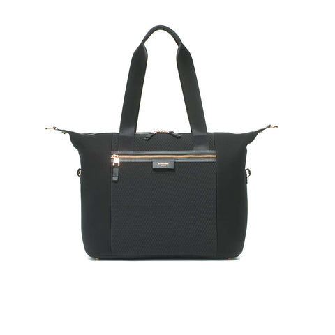Storksak Changing Bag - Stevie Luxe Scuba - Black-Changing Bags- Natural Baby Shower
