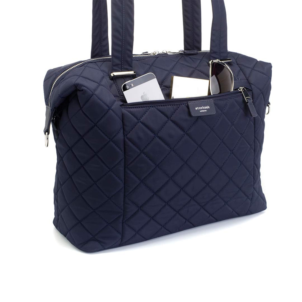 Storksak Changing Bag - Stevie Quilt - Navy-Changing Bags- Natural Baby Shower