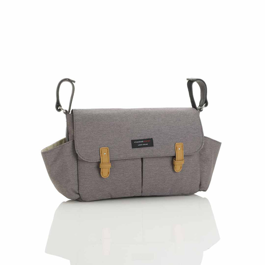 Storksak Travel Stroller Organiser - Grey-Stroller Organisers- Natural Baby Shower