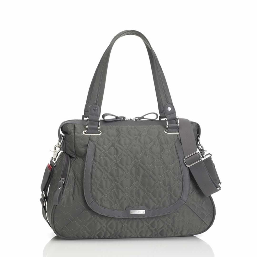 Storksak Changing Bag - Anna - Quilted Charcoal-Changing Bags- Natural Baby Shower