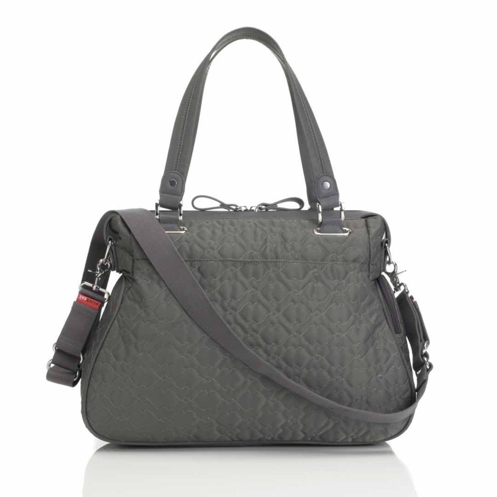 Storksak Changing Bag - Anna - Quilted Charcoal Back