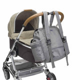 Storksak Changing Bag - Backpack - Grey on pushchair