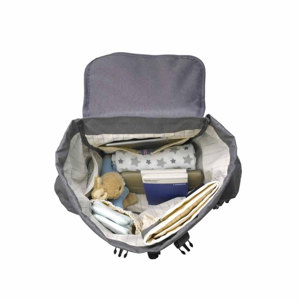 Storksak Changing Bag - Backpack - Grey open