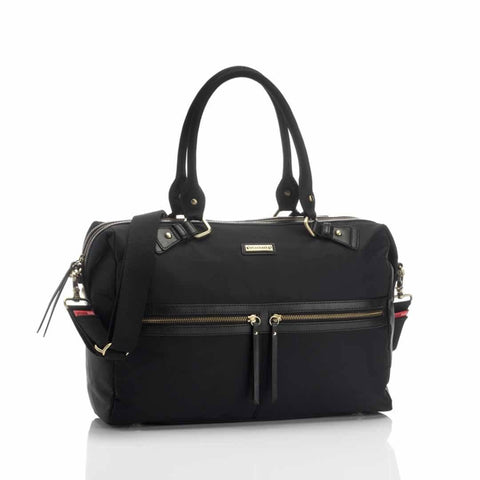 Storksak Changing Bag - Caroline in Nylon Black
