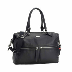 Storksak Changing Bag - Caroline Leather in Black