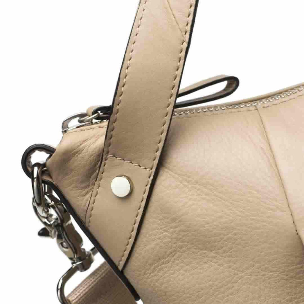 Storksak Changing Bag - Catherine Leather - Almond Detail
