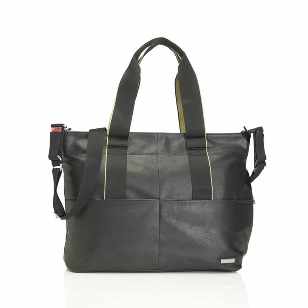 Storksak Changing Bag - Eden in Black Vegan Leather