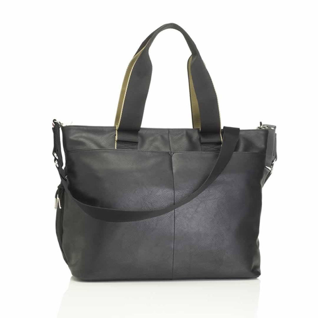 Storksak Changing Bag - Eden - Black Vegan Leather Back