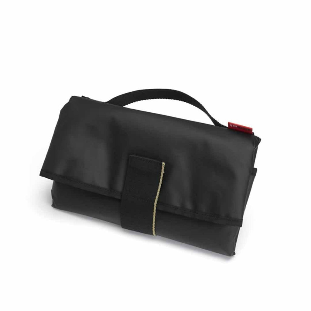 Storksak Changing Bag - Eden - Black Vegan Leather Changing Mat