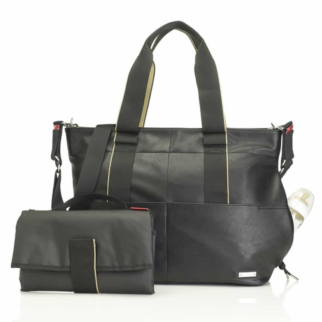 Storksak Changing Bag Eden Black Vegan Leather