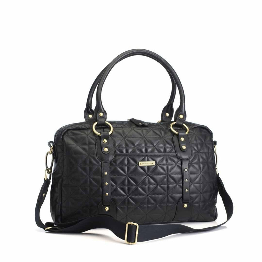 Storksak Changing Bag - Elizabeth in Quilted Black