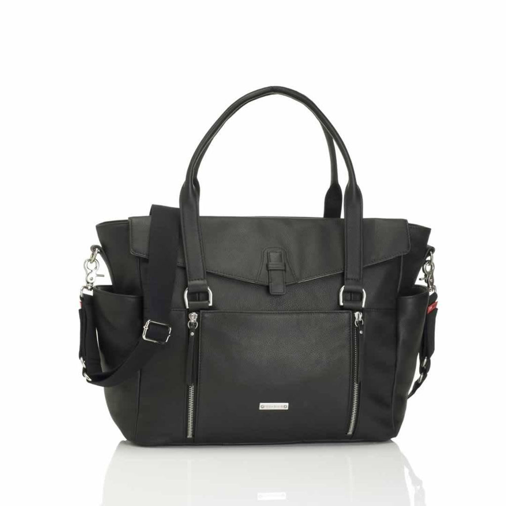 Storksak Changing Bag - Emma in Leather Black
