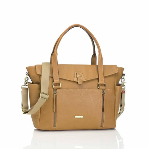Storksak Changing Bag - Emma in Leather Tan