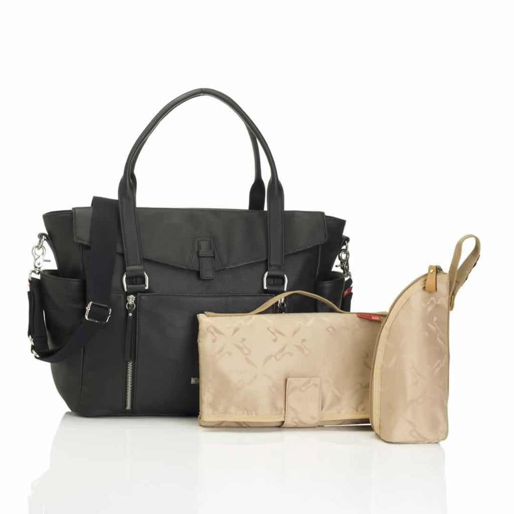 Storksak Changing Bag Emma Leather Black