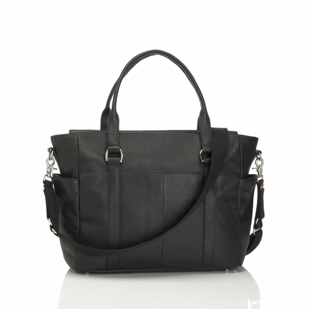 Storksak Changing Bag - Emma - Leather Black Back