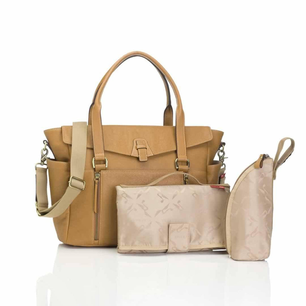 Storksak Changing Bag Emma Leather Tan