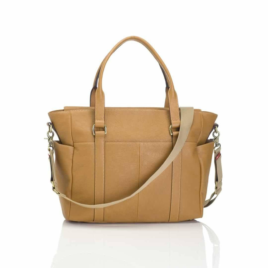 Storksak Changing Bag - Emma - Leather Tan Back