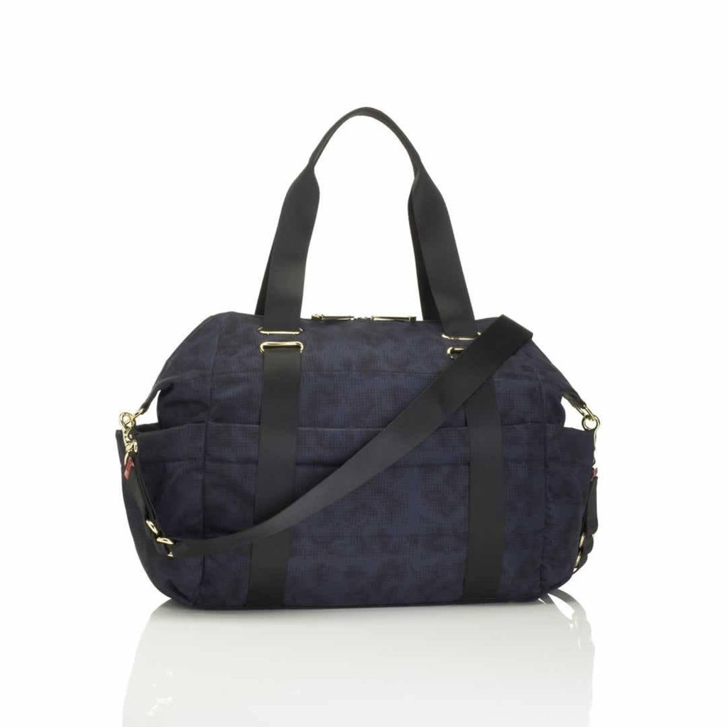 Storksak Changing Bag - Sandy - Print Blue Back