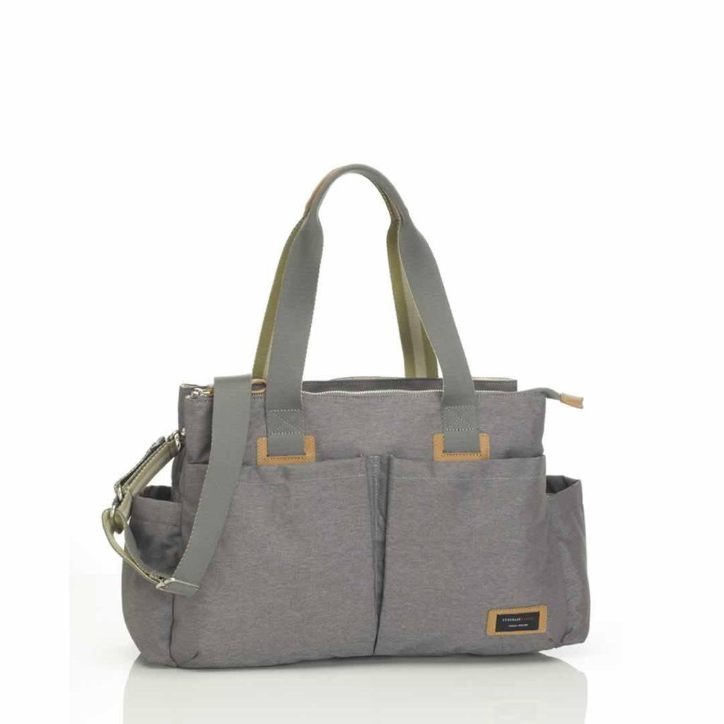 Storksak Changing Bag - Shoulder Bag - Grey-Changing Bags- Natural Baby Shower
