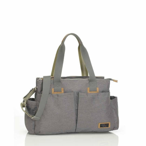 Storksak Changing Bag - Shoulder Bag in Grey