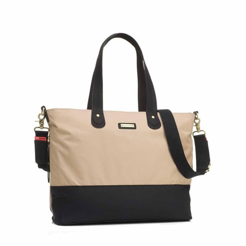 Storksak Changing Bag - Tote in Champagne/Black