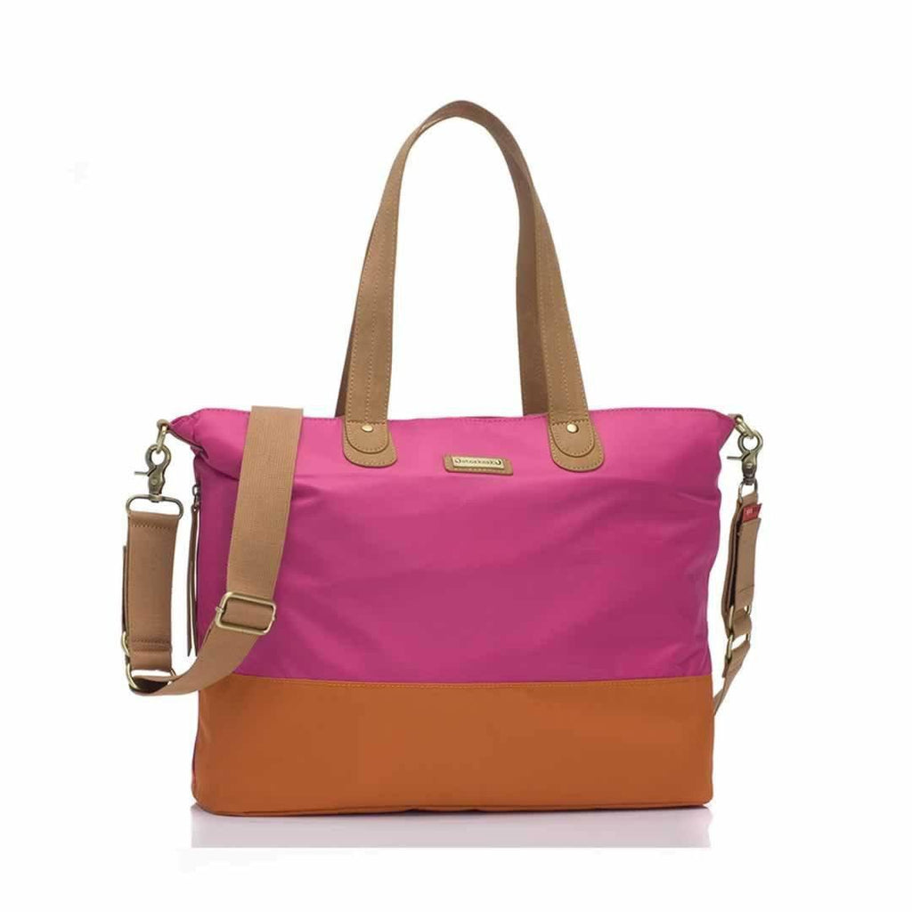 Storksak Changing Bag - Tote in Fuchsia/Orange