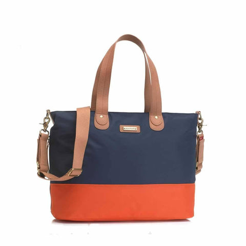 Storksak Changing Bag - Tote in Navy/Orange