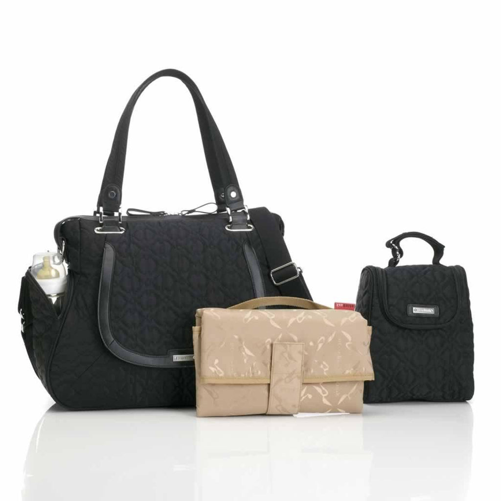 Storksak Changing Bag - Anna - Quilted Black - Changing Bags - Natural Baby Shower