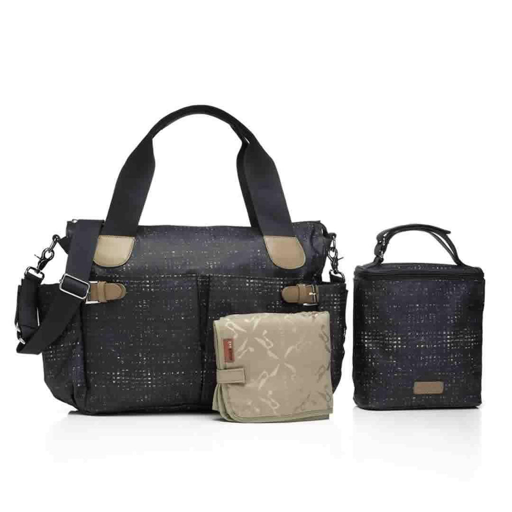 Storksak Changing Bag - Kay - Crosshatch Navy - Changing Bags - Natural Baby Shower