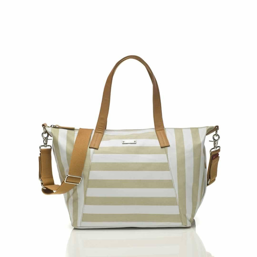 Storksak Noa Changing Bag - Jumbo Stripe Fawn - Changing Bags - Natural Baby Shower