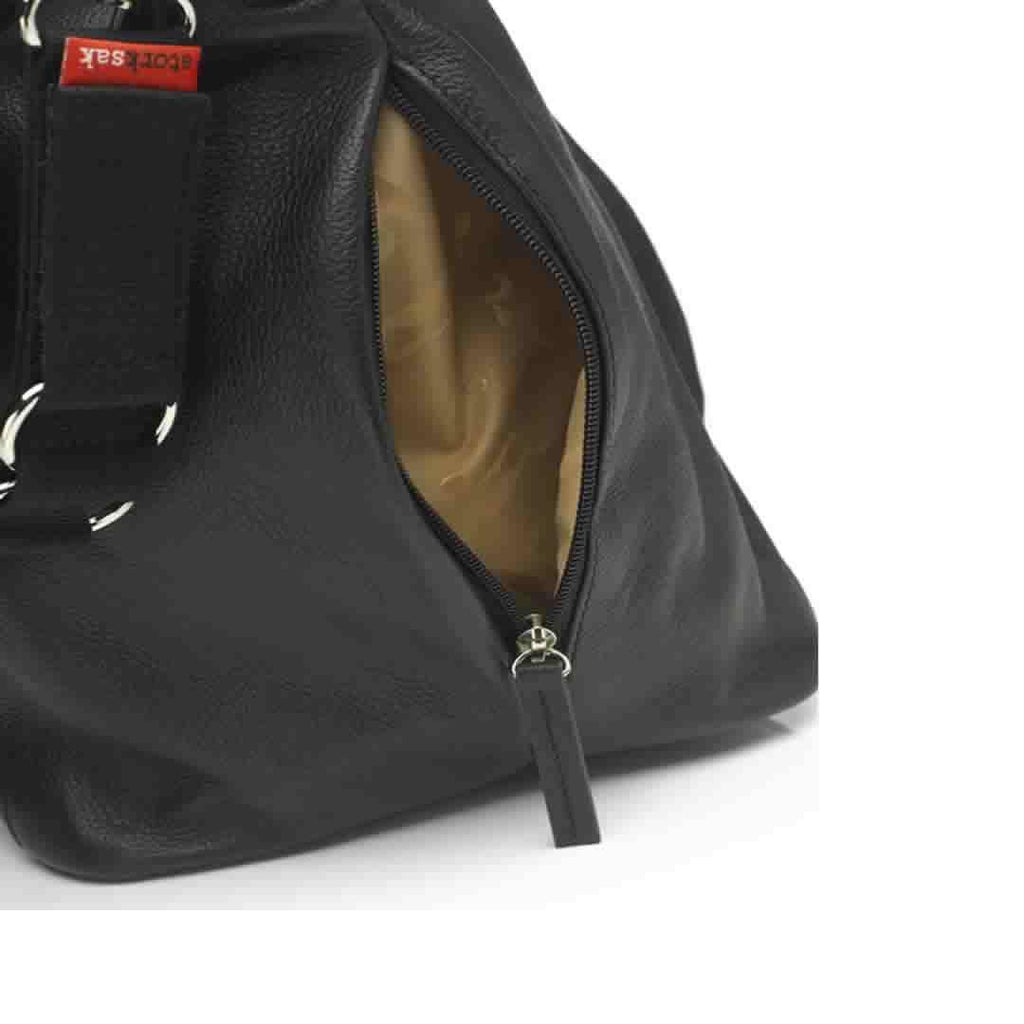 Storksak Noa Leather Black Detail
