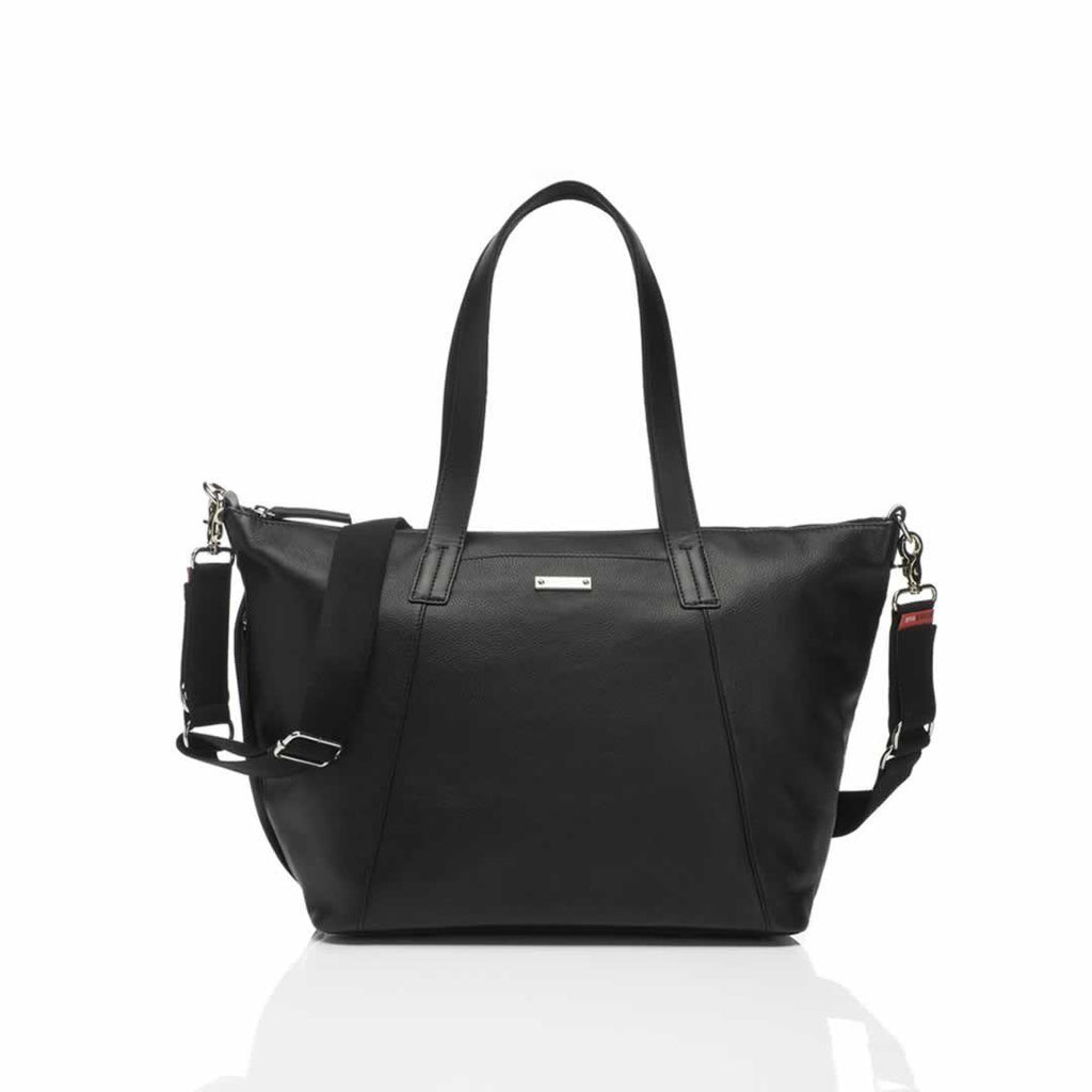 Storksak Noa Changing Bag in Leather Black